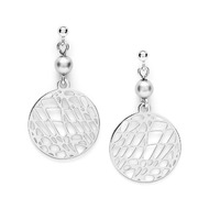 Fossil Women Boucles D'Oreilles En Argent 925 Abstract Cutout - One size